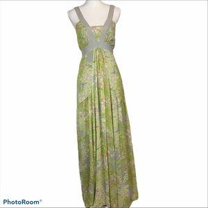 Jessica Simpson floral boho maxidress dusty colors
